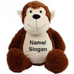 Personalised Zippie Monkey Teddy Bear